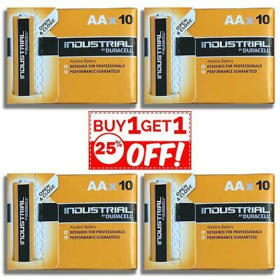 40X UK Duracell Industrial AA Batteries Alkaline 1.5V LR6 MN1500 Procell Battery
