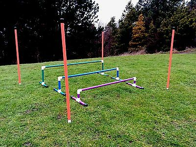 Dog Agility Colourful 3 Piece Long Jump