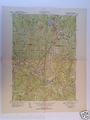TOWNSEND, MASS. Pepperell MA BROOKLINE NH  GROTON MA 1952 USGS TOPOGRAPHICAL MAP