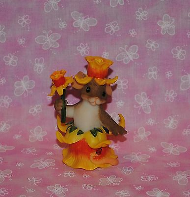 """Charming Tails """"your Happy Spirit Blossom"""" Maxine Mouse Dressed As Daffodil"""