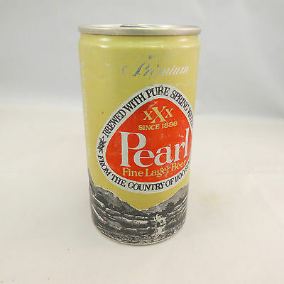 Pearl, Fine Lager Beer, empty 12 oz beer can