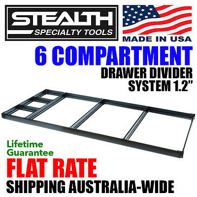 """STEALTH 6 Compartment Drawer Dividers 1.2"""" Toolbox Storage Tool Box for Sale"""