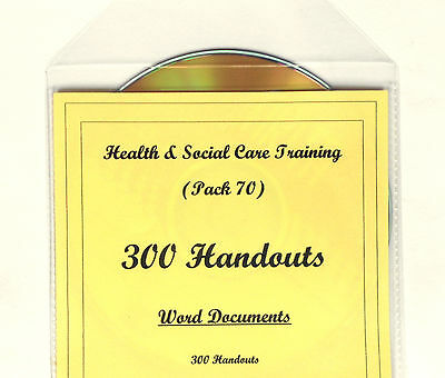 300 HANDOUTS Health and Social Care Teaching Training Course Resources CD
