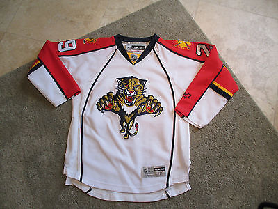new arrival cf2af bd69e REEBOK TOMAS VOKOUN Florida Panthers Jersey Youth Extra Large SEWN Hockey  White