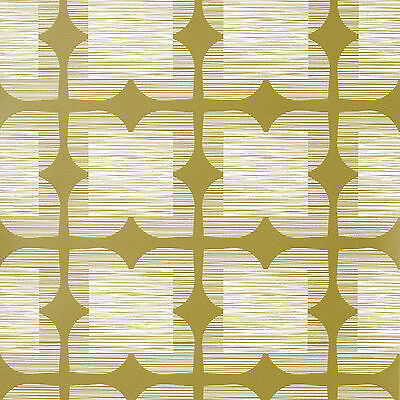 Orla Kiely Wall Paper Flower Tile, Color Bay Leaf