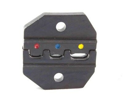 New 22-10 AWG Crimp die with Red, Blue, Yellow color coded slots