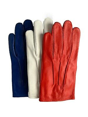 Men Leather Knuckle Holes Driving Gloves Tan