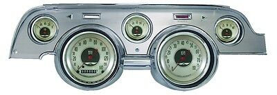 Classic Instruments 67-68 Ford Mustang Gauges Brushed Aluminum Bezel mu67anba