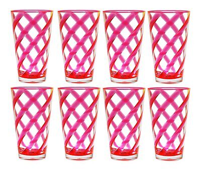 Qg 22 Oz Acrylic Plastic Iced Tea Cup Glass Tumbler Set