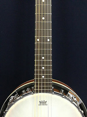Brand New Caraya BJ-006 6-String Mahogany Resonator Banjo w/Free gig bag