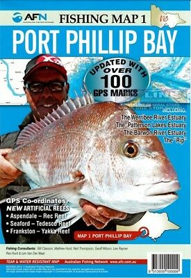 AFN Fishing Maps Port Phillip Bay (Vic) Map 1 Tear & Water Resistant Map