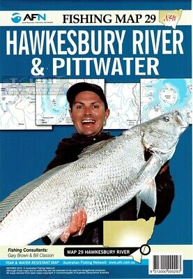AFN Fishing Maps Hawkesbury River & Pittwater (NSW) Map 29 Tear & Water Resistan