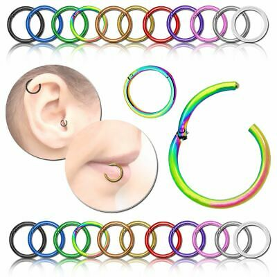 Stainless Steel Nose Ring Beads Nostril Hoop Nose Earring Piercing Jewelry gu CL