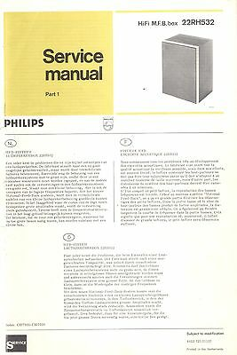Philips Service Manual für MFB-Box 22 RH 532