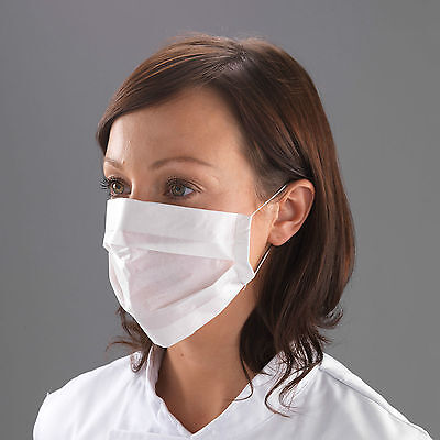 100 x 2Ply Paper Face Masks Disposable Professional Ear Loops Medical Flu Dust