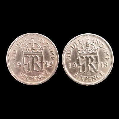 2x Lucky Sixpence Wedding Favours Coins Cleaned Polished Choice of Date Free P&P