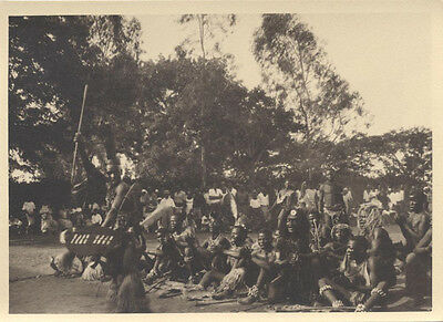 Original 1920S Photograph Of Batuque Dance Warriors Ceremony - Mozambique