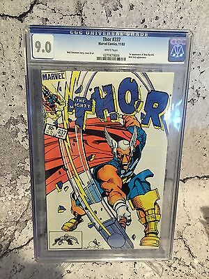 Marvel Thor # 337 First App Beta Ray Bill Cgc 9.0 Graded Comic New Slab