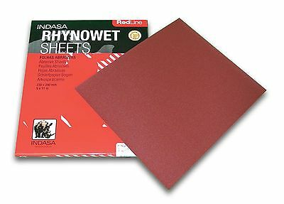 "Indasa wet or dry sandpaper 9"" x 11"" sheets, 400 grit SMR-IN-6-400, Pack of 50"