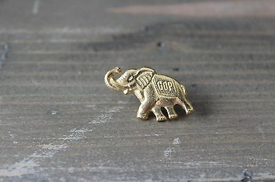 Vintage Gold Plated GOP Elephant Republican Lapel Pin