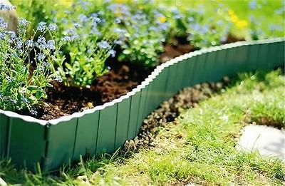 Plastic Garden Fence Panels Boarder Lawn Palisade Edge Patio Fencing GREEN KRR