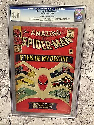 Marvel Amazing Spider-man # 31 First Appearance Of Gwen Stacy Cgc 3.0 New Slab