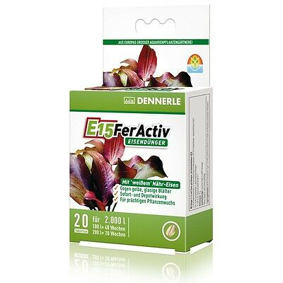 Dennerle E15 FerActiv Iron Fertilizer (20 pcs) for Aquarium Plants