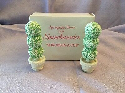 Dept 56 Snowbunnies - Shrubs In A Tub  - Item # 2614-0