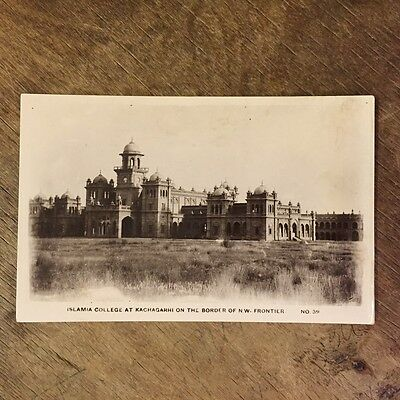 Islamia College at Kachagarhi on the Border of N.W. Frontier RP Postcard  Ref017