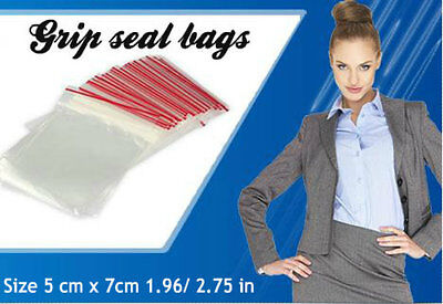 200 Seal Bags Self Resealable Mini Grip Poly Plastic Clear Bags .