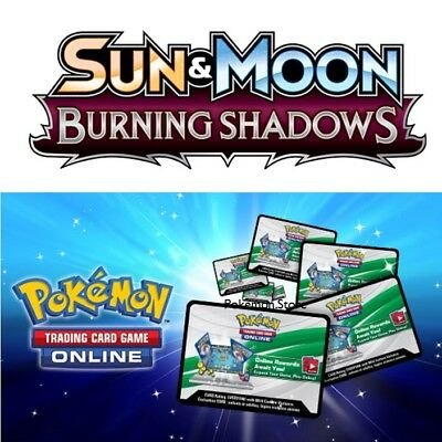 100 Burning Shadows Codes Pokemon TCG Online Booster sent INGAME / EMAILED FAST!