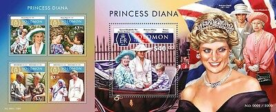 Z08 SLM15516ab SOLOMON ISLANDS 2015 Princess Diana Imperforated Set