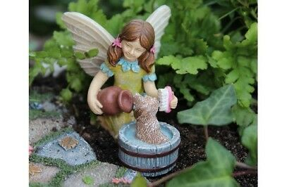 "2.25"" My Fairy Gardens Mini Figure - ""Katie and Scruffy"" - Girl & Puppy Figurine"
