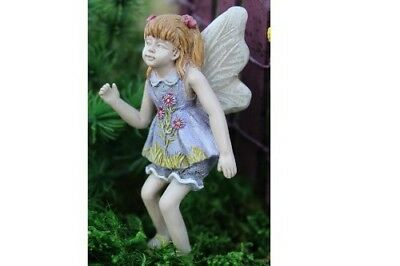 "2.75"" My Fairy Gardens Mini Figure - Nita - Resin Miniature Figurine Yard Decor"
