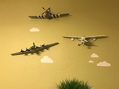 Boeing B-17 Bomber Army Propeller Military Pilot Airplane 3D Wall Decor Aviation