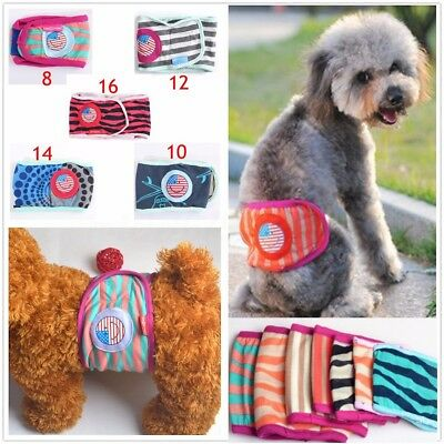 Reusable Dog Physiological Pants Diaper Belly Band Wrap Nappy Sanitary Underwear