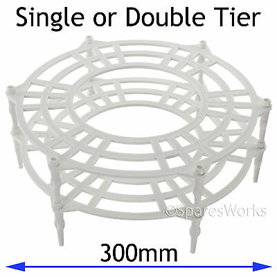 UNIVERSAL Single + Double Tier Microwave Turntable Plate Stand Rack 300mm