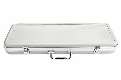 500 Chip Portable Silver Aluminium Poker Case ABS Plastic High Quality NEW