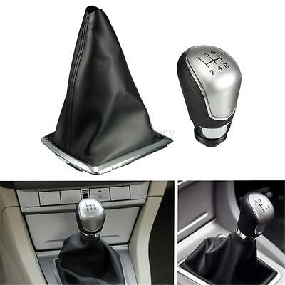Black 5 Speed Gear Shift Knob Stick Lever Gaiter Boot Cover For Ford Focus 05-12