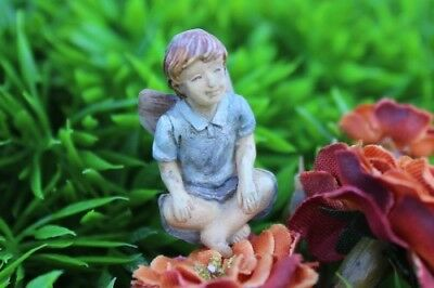 "1"" My Fairy Gardens Itty Bitty Ben Figurine with Pick - Resin Tiny Micro Mini"
