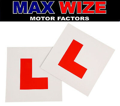 Fully Magnetic Exterior Car New Learner L Plates x2