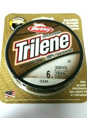 Berkley Trilene Super Strong | Fluorocarbon | Fishing Line | 200yd | Clear
