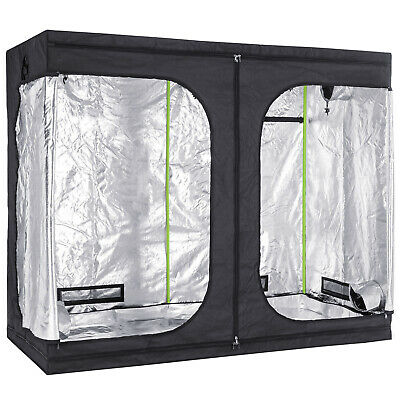 Hydroponics Pro Green Box Tent Grow Bud Room 2.4m x 1.2m x 2m Indoor Growing Box