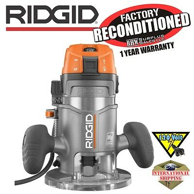Ridgid R2200 Fixed Base Router ZRR2200 Reconditioned