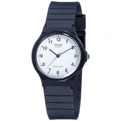 Casio MQ-24-7BLL Unisex Classic White Dial Analogue Watch and Black Resin Strap