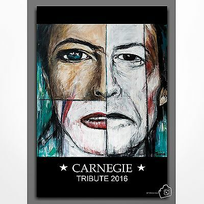David Bowie Tribute Concert Poster Carnegie Hall 2016 (Size A-3).