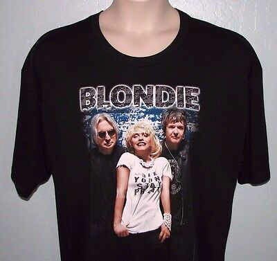 Blondie Concert T-Shirt 2012 Tour Size 2XL Black Graphic Tee Venue Cities Back
