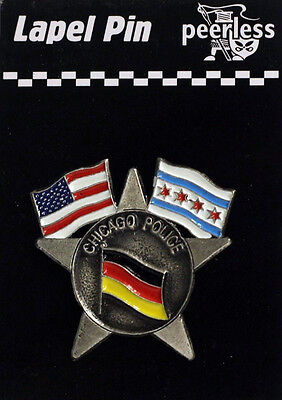Chicago Police German American Flag Lapel Pin