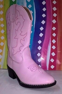 Faded Glory Pink Western Cowgirl Junior Girl's Boots Size 11.5