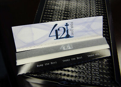 421 Cigarette Smoking Rolling Paper Like RAW King Size 64 Papers / 2 Packets